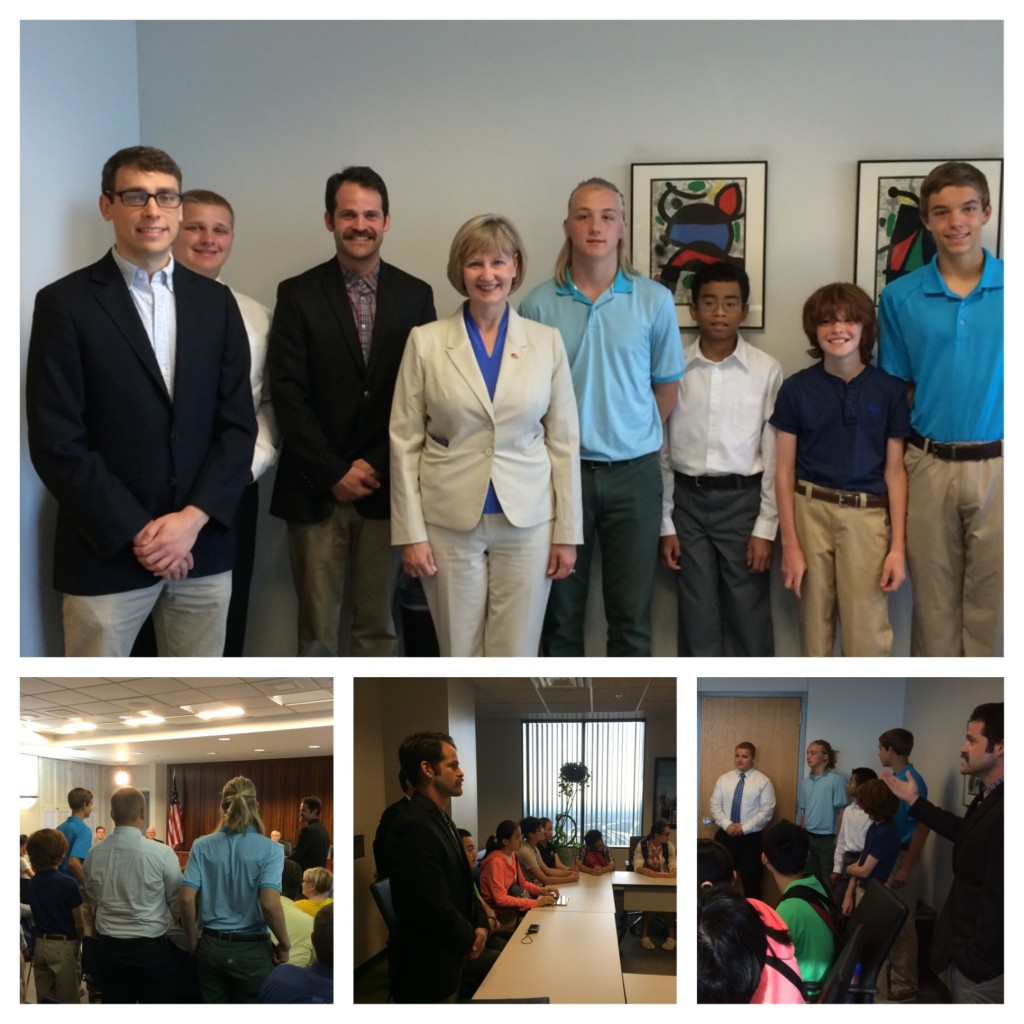 Franklin County Commissioner Paula Brooks recognizes CSC Students led by CSC President Chris Stellato and Donald Newman in the Franklin County Government Building, downtown Columbus, Ohio.